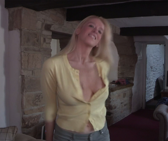 Blonde Fiona on Downblouse Loving