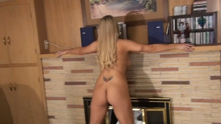 Blonde hottie Ashley K gets naked