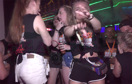 British party girls on a night out