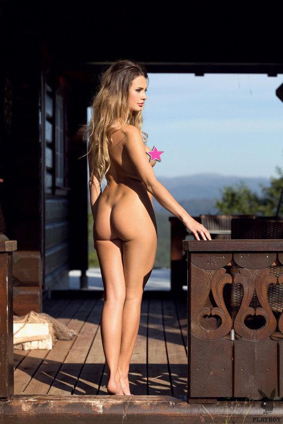 Klaudia Skogmo poses naked for Playboy