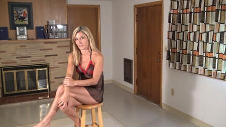 Blonde girl in lingerie