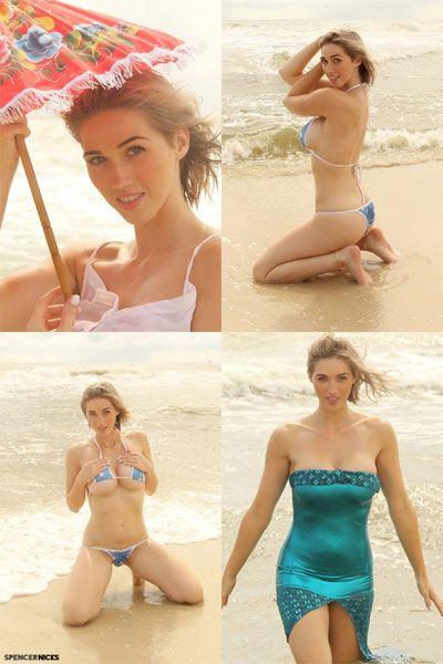 Spencer Nicks Spring Break Zipset - She performs a sexy strip tease on the beach