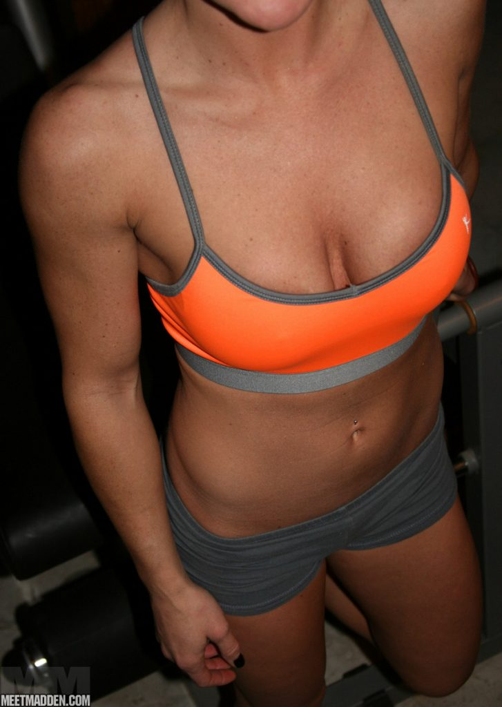 Gym cleavage