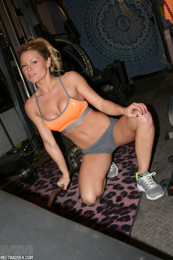 Meet Madden shows her fit body