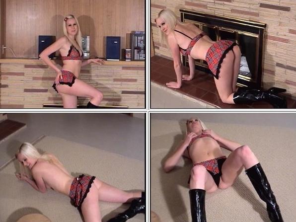 Shayla in tartan underwear and black boots-Northwest Beauties
