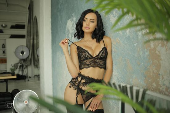 Beautiful AshleyQ in a sexy black lingerie-StasyQ