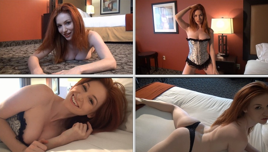 Emily posing in sexy underwear