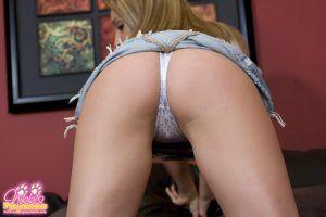 Nikki gives a wonderful close up of her sexy hot ass