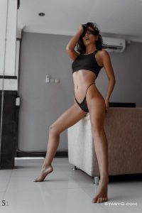 EvelynQ shows off her gorgeous body in black panties for StasyQ