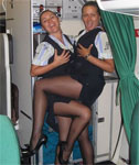 Real Air Hostesses Showing Off