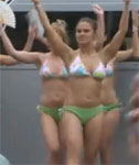 Belgium Bikini Beauties Dancing at a Car Show