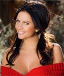 Classy Denise Milani in Red